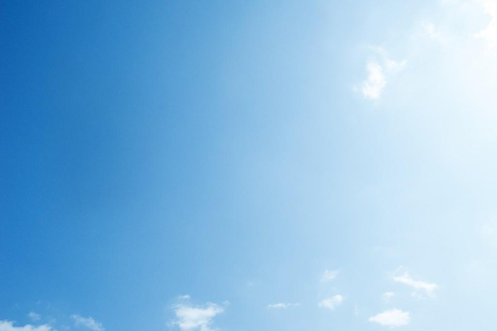 こんな青空がひろがった本日の金沢方面